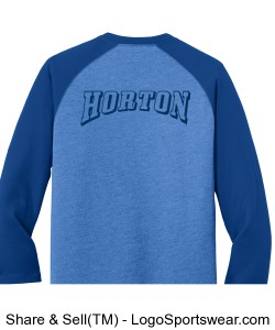 horton edition raglan 3/4 sleeve Design Zoom