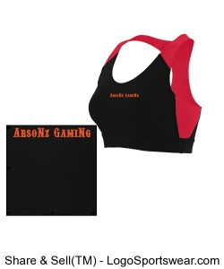 ArsoNz GamiNg Sports Bra Design Zoom