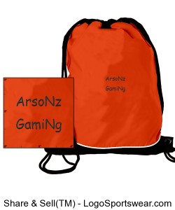 ArsoNz GamiNg drawstring bag Design Zoom