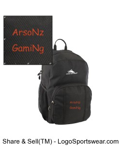 ArsoNz GamiNg Backpacks Design Zoom