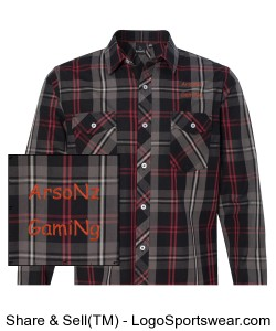ArsoNz GamiNg Flannel Design Zoom