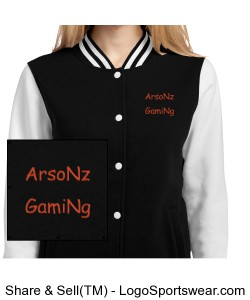 ArsoNz GamiNg Letterman Jacket Design Zoom